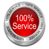 Hundred percent Service button — Stock Photo