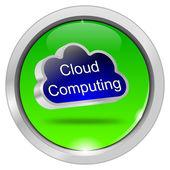 Düğme bulut hesaplama — Stok fotoğraf