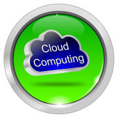 Knop cloud computing — Stockfoto