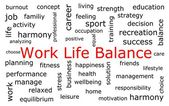 Work Life Balance wordcloud — Foto de Stock
