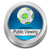 Public viewing Button — Stock fotografie