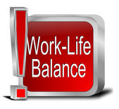 Work Life Balance button — Foto Stock