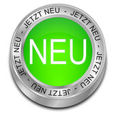New Button - in german — Stock Photo