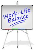 Work Life Balance Whiteboard — Stock Photo