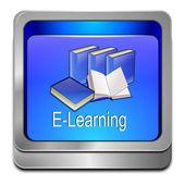 E-lärande-knappen — Stockfoto