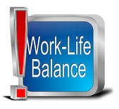 Work Life Balance button — Stock Photo