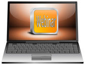 Laptop with webinar — Stockfoto