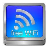 Free wireless WiFi button — Stok fotoğraf