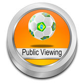 Public viewing Button — 图库照片