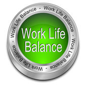 Work Life Balance button — ストック写真