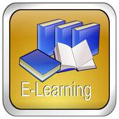 Botón de e-learning — Foto de Stock
