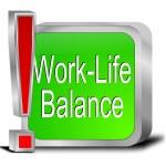 Work Life Balance button — Stock Photo #48661817