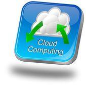 Button Cloud Computing — Stock Photo