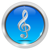 Music Button — Stock Photo