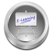 Przycisk e learningu — Zdjęcie stockowe