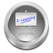 Tlačítko e learningu — Stock fotografie