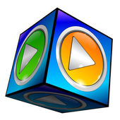Play Button 3d — Stockfoto