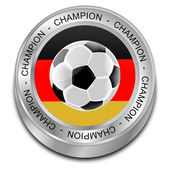 Soccer ball with german flag Champion — Stock Photo