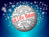 Work Life Balance wordcloud — Stock Photo