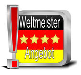 Champion offer Button - in german — Stock Photo