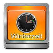 Winter time button — Stok fotoğraf