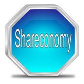 Shareconomy Button — Stock Photo