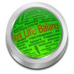 Work Life Balance button — Stock Photo #50134431