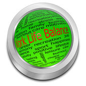 Work Life Balance button — Foto de Stock