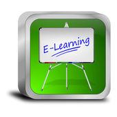 E-learning-schaltfläche — Stockfoto