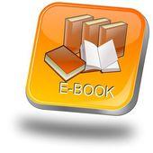 кнопка e книги — Стоковое фото