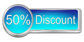 Fifty percent Discount Button — Stock Photo
