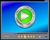 Lettore multimediale interfaccia — Foto Stock