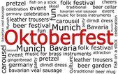 Oktoberfest wordcloud — Stock Photo