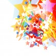 Abstract star background vector - Stockvectorbeeld