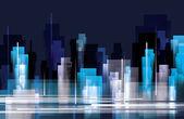 City skyline at night — Stock Vector