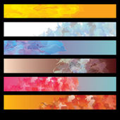 Abstract background banner set — Stock Vector