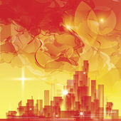 Abstract city skyline — Vector de stock