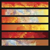 Set di banner sfondo astratto bagliore fumoso — Vettoriale Stock