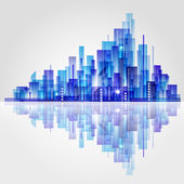 Abstract City skyline — Stock Vector