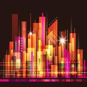 Skyline cidade abstrata — Vetor de Stock