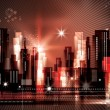 City skyline at night - Image vectorielle