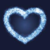 Corazón resplandeciente luz — Vector de stock