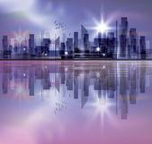 Skyline van de stad — Stockvector