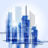 抽象城市景观背景矢量 — 图库矢量图片
