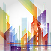 Abstract cityscape background vector — 图库矢量图片
