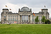 Reichstag with , Berlin — Stock Photo