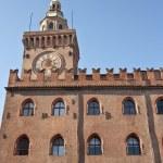Piazza Maggiore - Orologio Municipio — Stock Photo