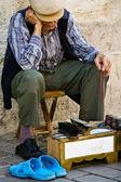 A shoeshine - istanbul — Stockfoto
