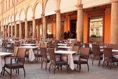Street Restaurant in Bologna, Italy — Stock Photo