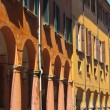 Porticoes of Bologna's old city center — Stock Photo